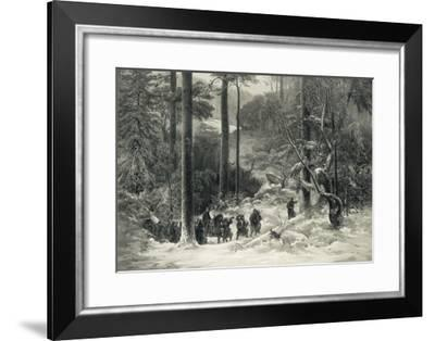 Sverre on Discovering That He is the Son of Sigurd II Goes to Norway to Make His Claim-A. Malmstron-Framed Giclee Print
