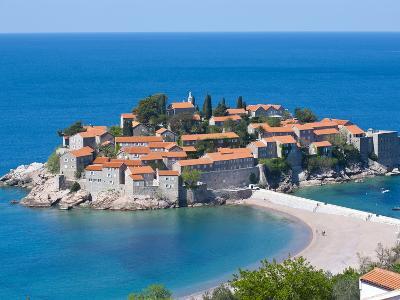 Sveti Stefan, Seaside Resort in Western Montenegro, Europe-Michael Runkel-Photographic Print