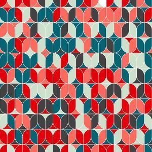 Vintage Seamless Geometrical Colorful Pattern. Texture Background for Web, Print, Home Decor, Texti by Svetlana Lukoyanova