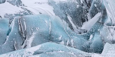 Svinafellsjoekull Glacier in Vatnajokull During Winter. Glacier Front and Icefall-Martin Zwick-Photographic Print
