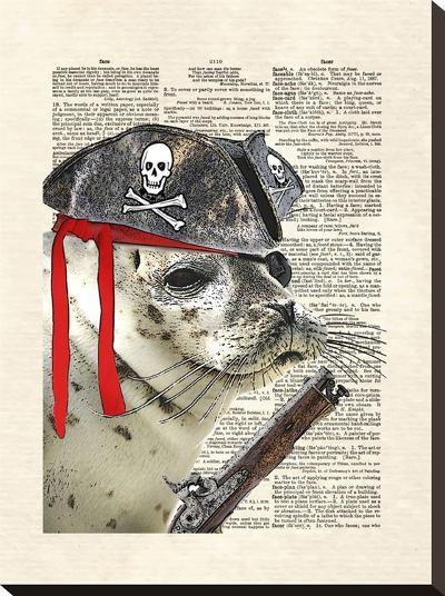 Swabby The Seal-Matt Dinniman-Stretched Canvas Print