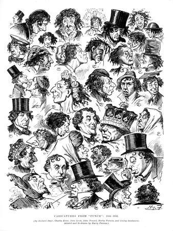 Caricatures from Punch, 1844-1882