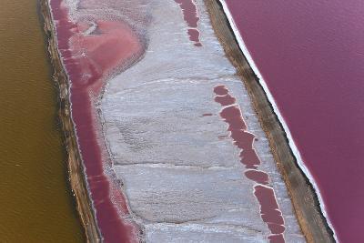 Swakopmund Saltworks, Aerial View, Namibia-Peter Adams-Photographic Print