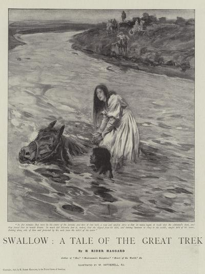 Swallow, a Tale of the Great Trek-William Hatherell-Giclee Print