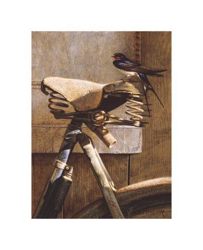Swallow On Bicycle-Peter Munro-Premium Giclee Print