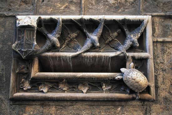 Swallows and Turtle, Decorations on Mailbox of Archdeacon's House--Giclee Print