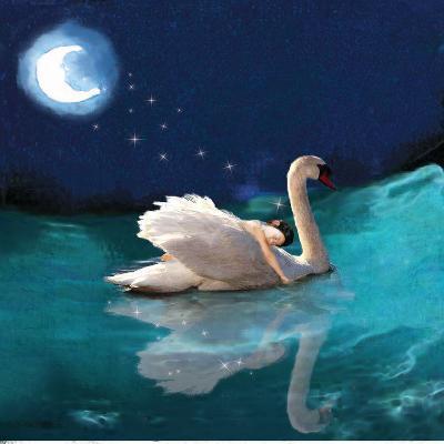 Swan And Child-Nancy Tillman-Art Print