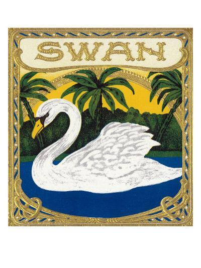 Swan Brand Cigar Box Label-Lantern Press-Art Print