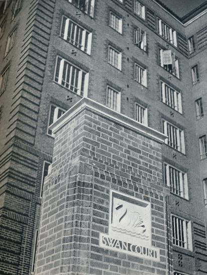 'Swan Court, Chelsea', 1932-Unknown-Photographic Print