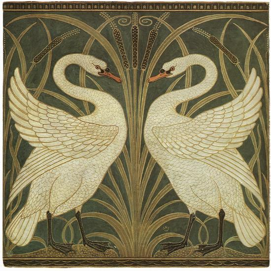 Swan Design Giclee Print By Walter Crane Art Com