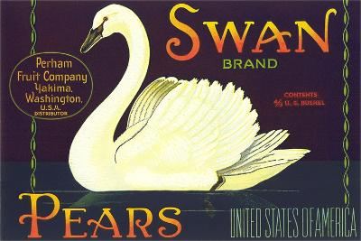 Swan Pear Label--Art Print