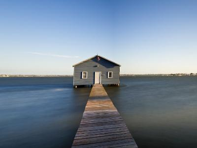 Swan River, Boat House and Jetty Perth, Wa, Western Australia, Australia-Peter Adams-Photographic Print