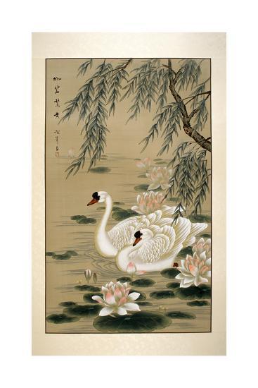 Swan Swim-Marcus Jules-Giclee Print