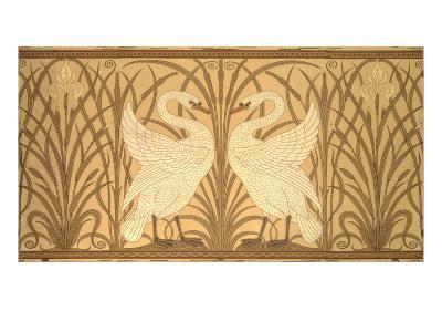 Swan Wallpaper Design-Walter Crane-Giclee Print