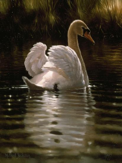 Swan-Michael Jackson-Giclee Print