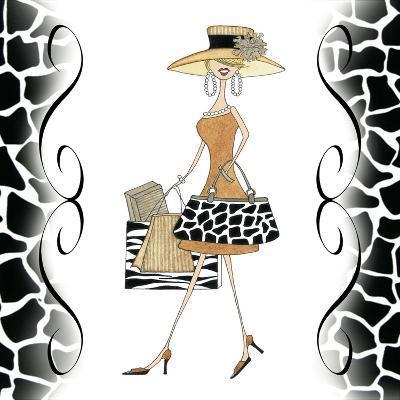 Swanky Shopper Gal-Stacey Hagerman-Art Print