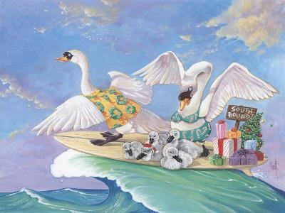 Swans a Swimming-Scott Westmoreland-Art Print