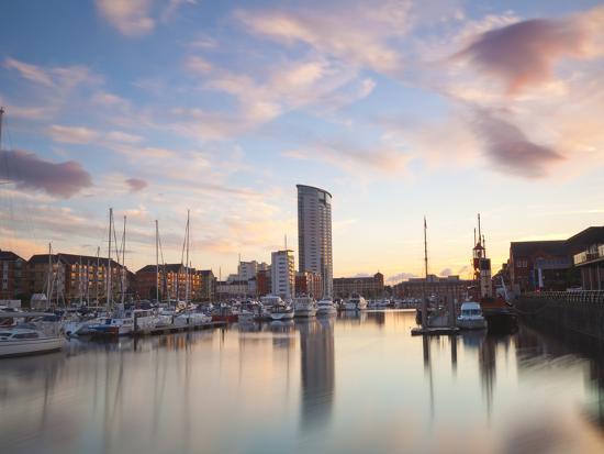 Swansea Marina, West Glamorgan, South Wales, Wales, United Kingdom, Europe-Billy Stock-Photographic Print