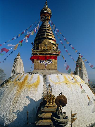 Swayambhunath Stupa (Monkey Temple), Kathmandu, Nepal, Asia-Gavin Hellier-Photographic Print