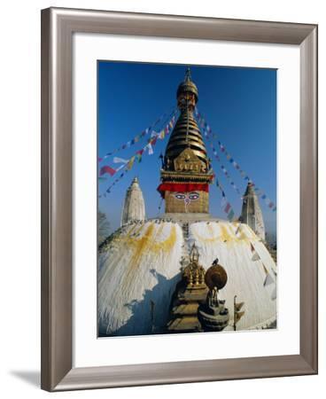 Swayambhunath Stupa (Monkey Temple), Kathmandu, Nepal, Asia-Gavin Hellier-Framed Photographic Print