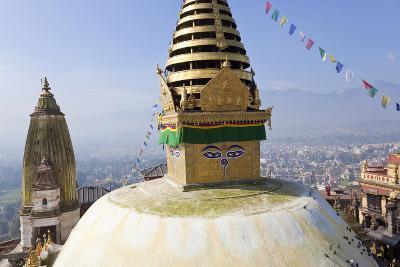 Swayambunath Stupa or Monkey Temple, Kathmandu, Nepal-Peter Adams-Photographic Print