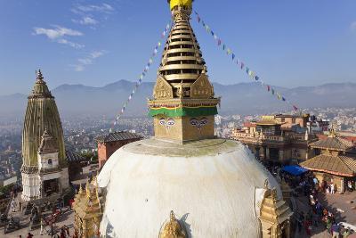 Swayamhunath Buddhist Stupa or Monkey Temple, Kathmandu, Nepal-Peter Adams-Photographic Print