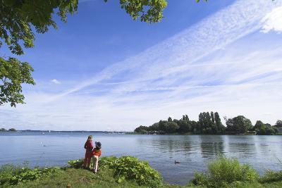 Swchwerin Germany Burgsee lake-Charles Bowman-Photographic Print