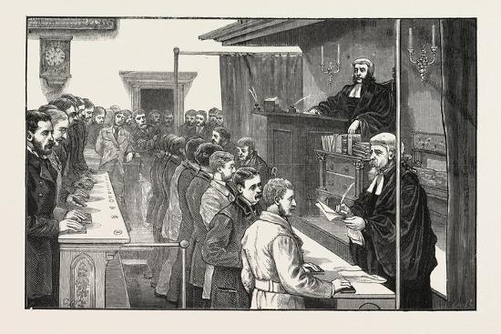 Swearing in Solicitors before the Master of the Rolls, 1876, UK--Giclee Print