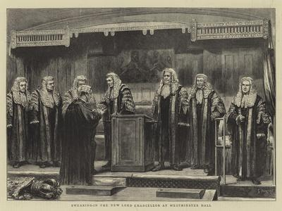 Swearing In The New Lord Chancellor At Westminster Hall Giclee Print Godefroy Durand Art Com