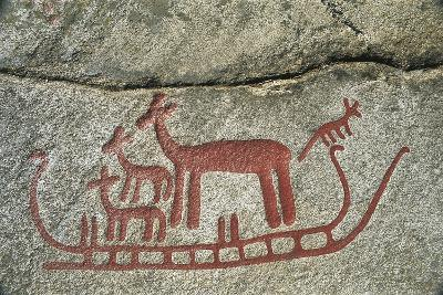 Sweden, Vastra Götaland County, Tanum, Rock Carvings--Photographic Print