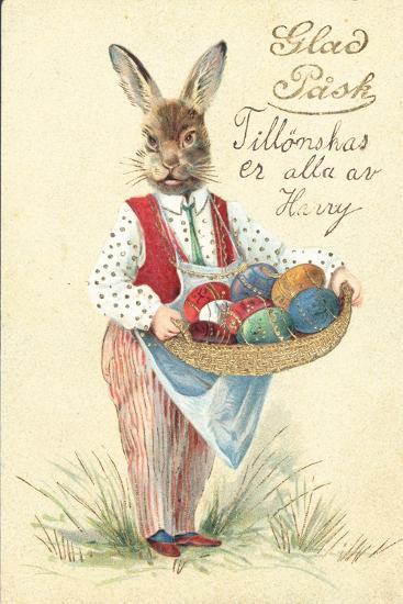 Swedish Easter Card--Giclee Print