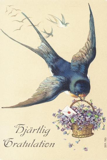 Swedish Greetings Card--Giclee Print