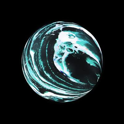 Abstract Marble Sphere of Ink