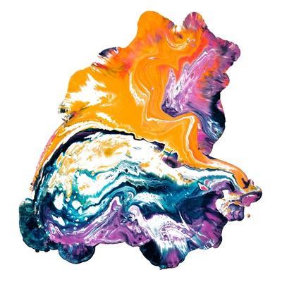 Abstract Paint Splatter - Marbling Texture