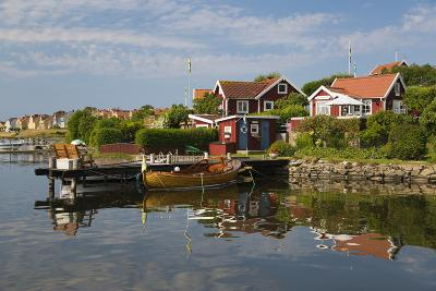Swedish Red Summer Houses in Brandaholm, Dragso Island, Karlskrona, Blekinge, South Sweden, Sweden-Stuart Black-Photographic Print