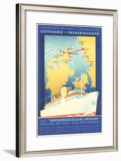 Swedish Shipping--Framed Art Print