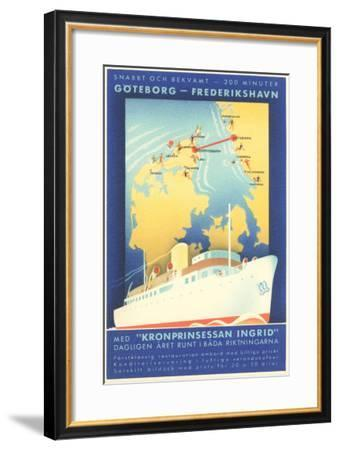 Swedish Shipping--Framed Art Print