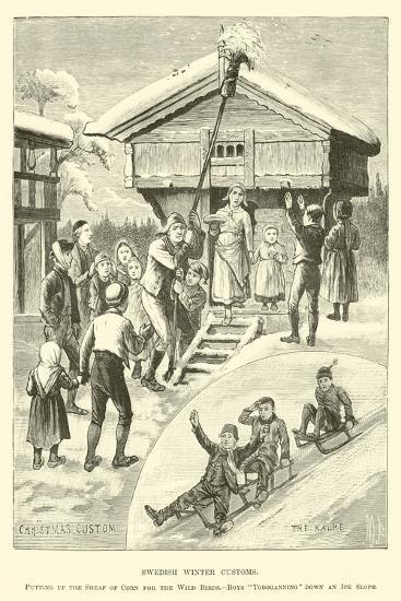 Swedish Winter Customs--Giclee Print