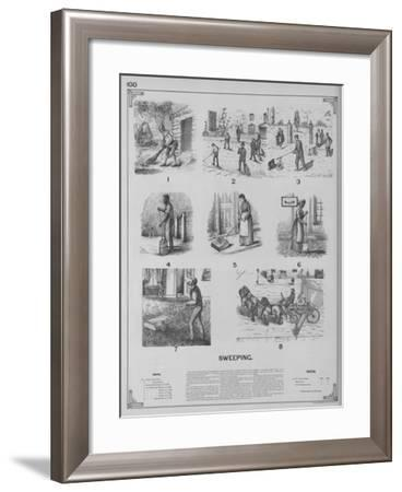 Sweeping--Framed Giclee Print