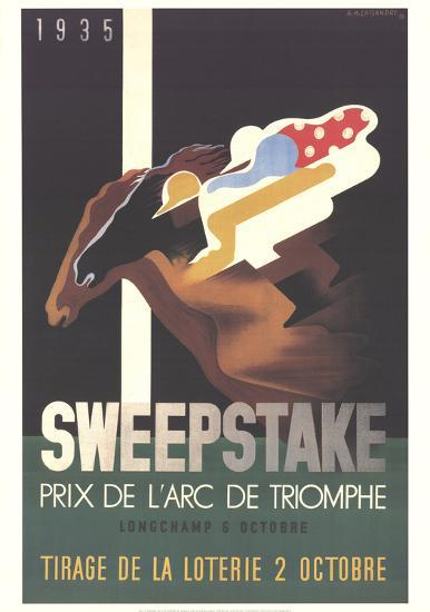 Sweepstake-Adolphe Mouron Cassandre-Collectable Print