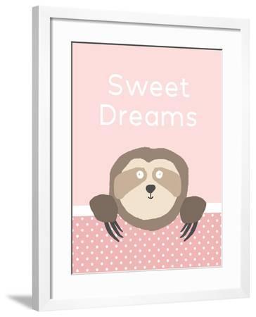 Sweet Dreams - Pink-Linda Woods-Framed Art Print
