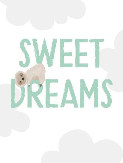 Sweet Dreams Sloth-Linda Woods-Art Print