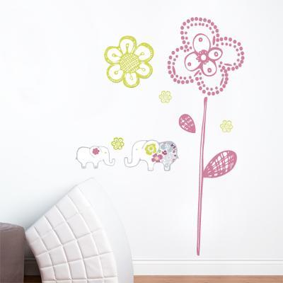 Sweet Elephants Wall Decal--Wall Decal