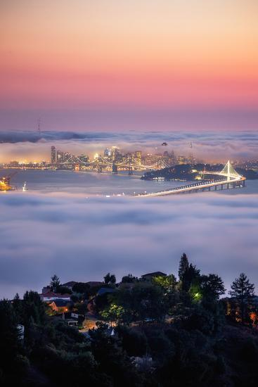 Sweet Fog City View From Oakland Hills, San Francisco-Vincent James-Photographic Print