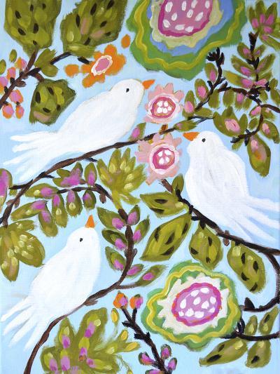 Sweet Love Birds I-Karen  Fields-Art Print