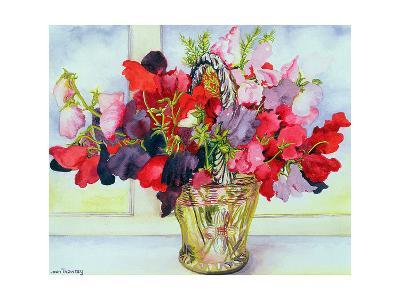 Sweet Peas in a Vase-Joan Thewsey-Giclee Print