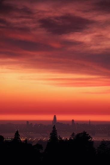 Sweet Silk Sunset Over San Francisco Golden Fire in the Sky-Vincent James-Photographic Print