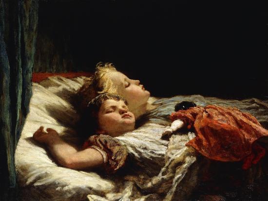 Sweet Slumber-Karl Wilhelm Friedrich Bauerle-Giclee Print