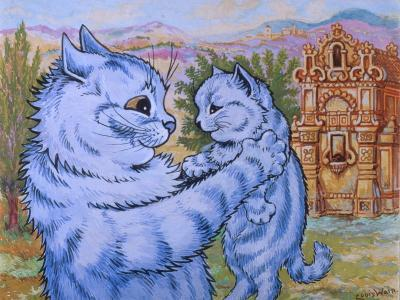 Sweetness Coyed Love into its Smile, C.1935-Louis Wain-Giclee Print