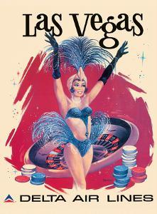 Las Vegas, USA, Vegas Show Girl, Delta Air Lines by Sweney